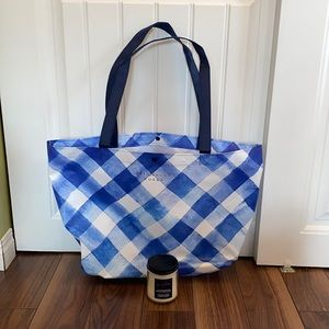 Bath & Body Works Gingham Candle & Tote